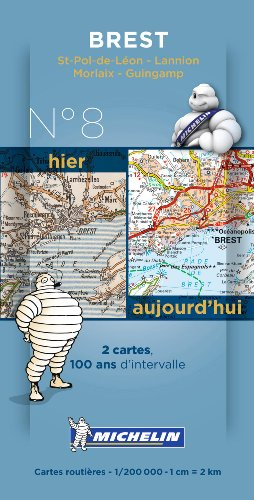 Pack 2 cartes hier/aujourd'hui Brest Michelin par Collectif MICHELIN