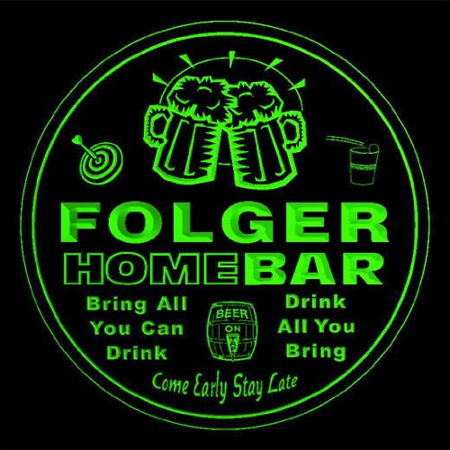 4x-ccq14929-g-folger-family-name-home-bar-pub-beer-club-gift-3d-coasters