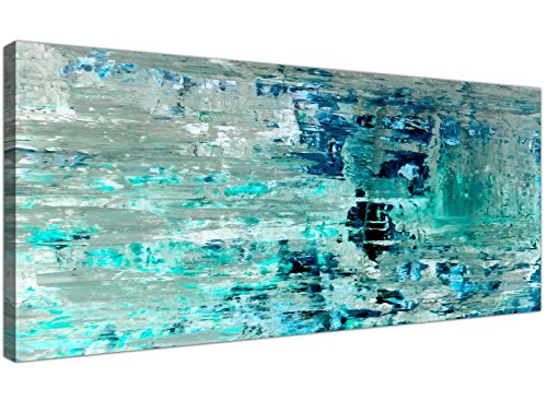Lienzo Turquesa, verde azulado, abstracto, pared -moderno