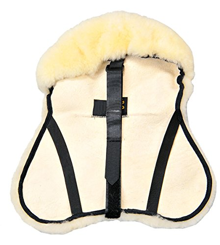 Merauno English Merino Sheepskin Saddle Seat Cover -Reitsport Lammfell Sattelsitzbezug englisch (M)
