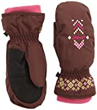 Ziener Mädchen Handschuhe Laika AS Mitten Girls Gloves Junior Kinderhandschuhe, Brown New, 3.5