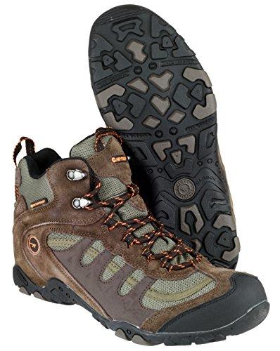 Hi-Tec Penrith Mid WP M, Herren Trekking- und Wanderstiefel Braun