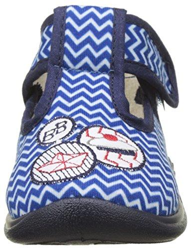 babybotte Jungen Miki Hohe Schuhe Bleu (Bleu/Blanc/Zigzag Marin)