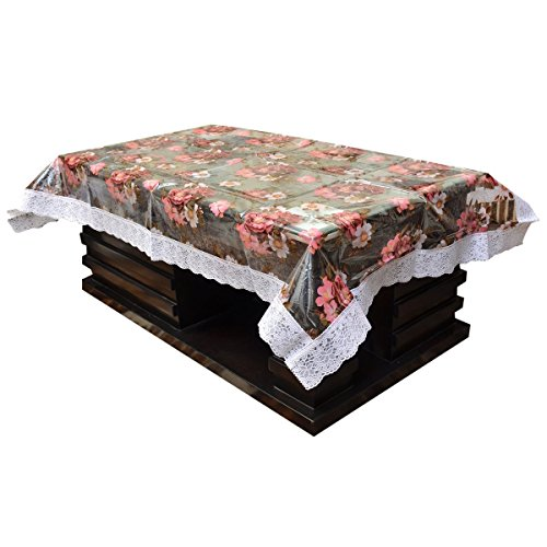 Kuber Industries Pink Flower Waterproof Center Table Cover 4 Seater (40*60 inches)