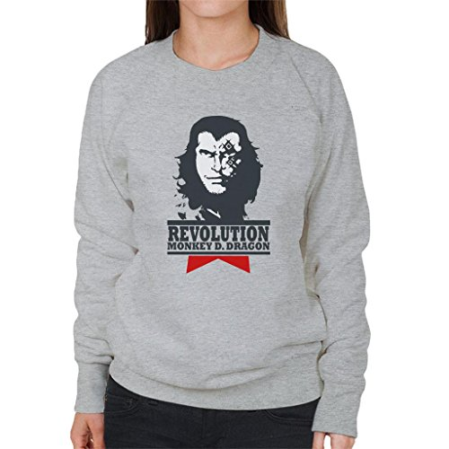 One Piece Monkey D Dragon Revolution Women's Sweatshirt Revolution Womens Sweatshirt