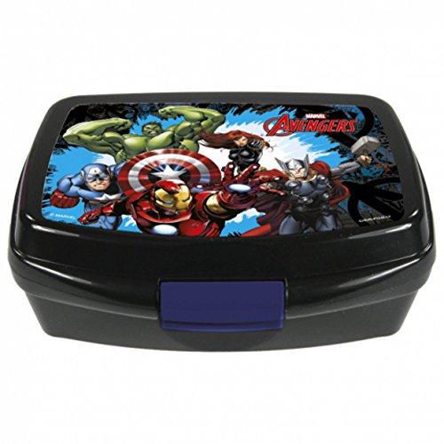 The Avengers - Brotdose - für Kindergarten, Schule oder Sport - Motiv: Iron Man, Hulk, Thor, Captain America - Marvel - Disney - Lunchbox / ()