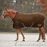 Heinick-Reitsport Regendecke Regendecke ~ Braun ~ Fleece Innenfutter Outdoordecke Weidedecke (145 cm)