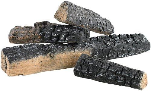 Carlo Milano Deko Holzscheite: Keramik-Dekoration Holzscheit für Bioethanol-Öfen 4 Stk. (Feuer Dekosteine) - Für Kamin Den Holzscheite