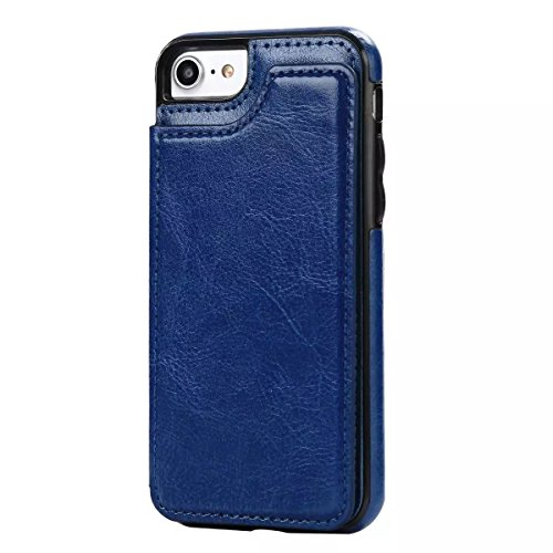 Coque iPhone 7,Coque iPhone 7 Plus, Coque iPhone 6/6S, Coque iPhone 6Plus/6S Plus, Coque iPhone Case cover, [Porte-cartes] étui Protection en Cuir Portefeuille multi-Usage Housse Rabattable(ARD-05) D