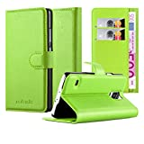 Cadorabo - Book Style Wallet Design for Samsung Galaxy S5 / S5 NEO (SM-G900F) with 2 Card Slots and Stand Function - Etui Case Cover Protection Pouch in APPLE-GREEN