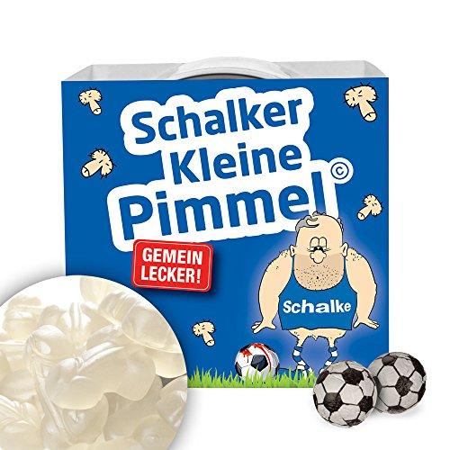 Schalker Kleine Pimmel | Gemein leckere Fruchtgummi, inklusive Messlatte zum lachen & vergleichen | Achtung: Dortmund-, Bayern- & alle Fußball-Fans aufgepasst, so schön kann Fußball sein