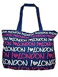 Large Novelty Fashion Beach Travel Weekend Shopping Handbag (Blue)