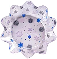 Creative Converting 50058 Plastic Fluted Snowflake Bowl, 8-Inch
