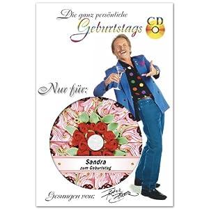Die ganz persönliche Geburtstags-CD von Frank Zander - DAS ORIGINAL - Jeder Vorname ist möglich. Er wird auf die CD gedruckt und 7 x im Lied gesungen!