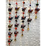 Royal Arts & Crafts Handmade Rajasthani Elephant Hanging Door Set Of- 5 Door Hanging For Home Décor
