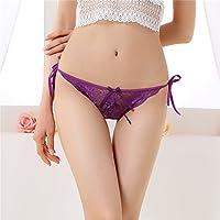 ZL de zzfmit un Cintura bajo Ropa Interior Puntas–Ropa Interior Lady Transpirable Tentación Slips T Pantalones, Violeta