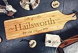 Personalizado gran señor & Mrs apellido y fecha de madera Tabla de quesos/bandeja/pala | 60x 17cm | grabado para usted