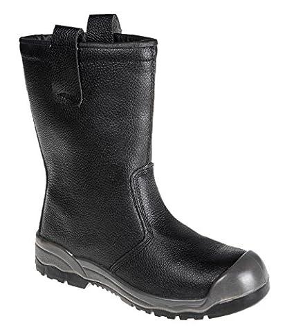 "PORFW13BKR48 - Steeliteâ""¢ Rigger Boot S Black - 48 R - 48 EU / 48 UK (Resistant Steel Toe Schuhe)"