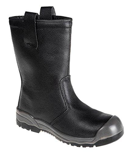 Portwest Fw13bkr41 Steelite Rigger Boot, S1P CI avec capuchon de seuil, Regular, taille : 41, Noir