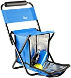 Xcase Campingstühle: Mini-Klappstuhl mit Kühltasche (Faltstuhl)