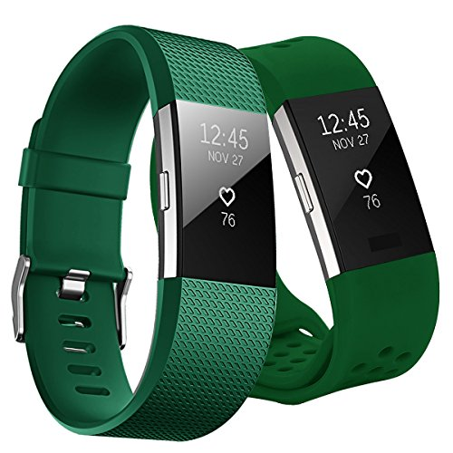 Kutop für Fitbit Charge2 Armband,Fitbit Charge 2 Armbänder weiches Silikon Sporty Ersetzerband Silikagel Fitness verstellbares Uhrenarmband für Fit bit Charge 2
