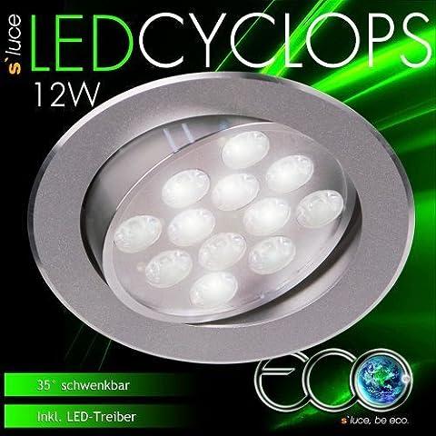 s`luce eco CYCLOPS / LED-Einbauleuchte schwenkbar / Alu /