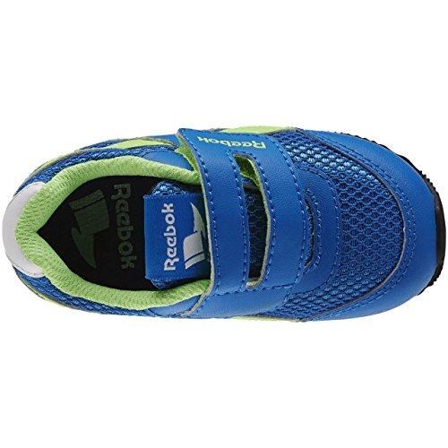 ReebokRoyal Cljog 2 Kc - Scarpe da Ginnastica Basse Unisex per bambini Blue / Green / White / Black (Blue Sport / Solar Green / Wht / Blck)