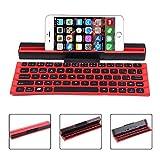 TEEPAO Faltbare Bluetooth Tastatur, Ultra Slim Wireless-Tastatur mit Ständer und Tragetasche Tragbare Tastatur für IPad, iPhone, Tablets, PC, Android, IOS, Windows, Mac