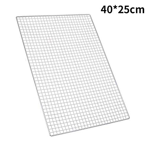 Loveinwinter Carpet Grid Barbecue 3er-Set Gridded Cooking Mat Antihaft-Mehrweg-Kochmesser, Gasgrill, Holzkohle