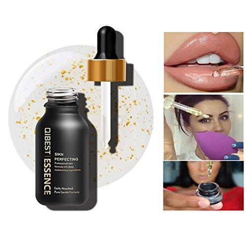 Allbesta 24K Gold Infused Beauty Oil Feuchtigkeitspflege Make-up Serum Rich in Vitamin A&E Anti-Aging Primer Foundation -
