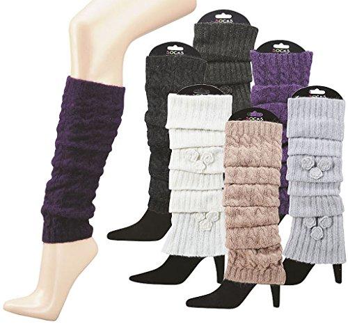 socksPUR Stulpe – Legwarmers 65% Polyacryl, 20% Wolle, 15% Angorawolle / 1 STÜCK (one size, braun)