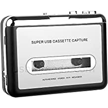 CFZC Handy Portable Tape to PC Super USB Cassette-to-MP3 Player Converter With USB Cable, Headphones and Software