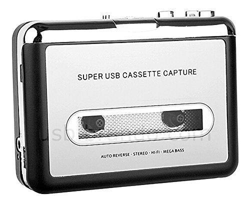 verter von Kassetten auf MP3 mit USB-Anschluss und USB-Kabel, Kopfhörer und Software ()