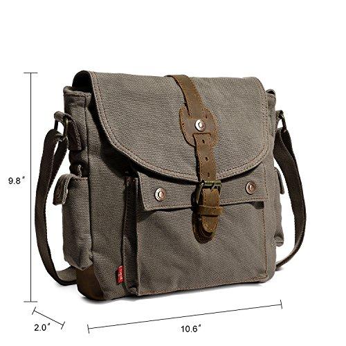 1c0633e9272e0 ... Mupack Segeltuch Messenger Tasche Klein Vintage Schultertaschen Outdoor  Sports Umhängetaschen Khaki Khaki ...