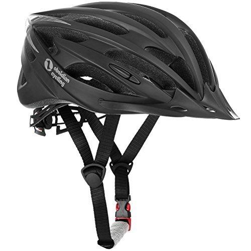 Airflow Fahrradhelm mit Sicherheitszertifikat - Speziell für Radtouren & Mountainbiking - Hochwertig, Bequem, Leicht & Atmungsaktiv - Geeignet für Männer, Frauen & Teenager (Matte Black, M/L)
