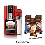 Tchibo SAECO Cafissimo LATTE Rosso inkl. 90 Kapseln - Kaffeemaschine (für Kaffee, Espresso, Filterkaffee Latte Machiatto, Capuccino oder Tee)