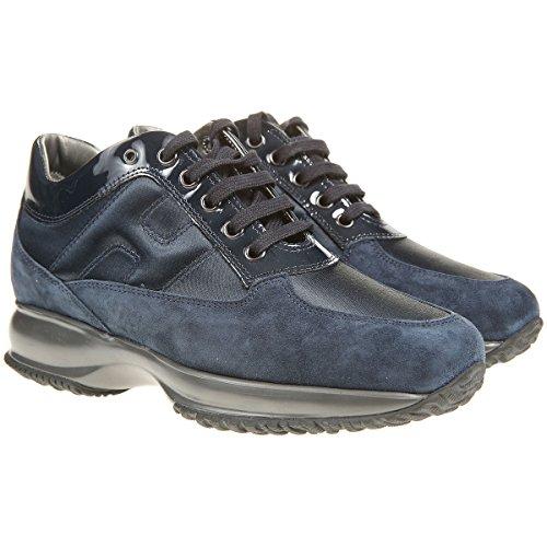 Hogan sneaker interactive scamosciate blu hxw00n0001035x