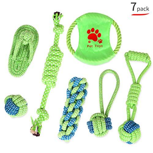 MENGMA Hundespielzeug, Kauspielzeug aus Baumwolle, Seil, Knoten, Bisswiderstand