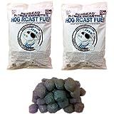 PENBEAD Premier Charcoal BBQ Briquettes : VALUE PACK OF TWO 10kg bags (20kg total)