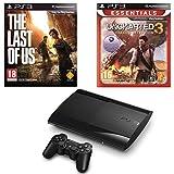 Console PS3 Ultra slim 12 Go noire + The Last of Us - Édition jeu de...