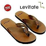 Levitate Men Flip Flop LVTFF3001 Black Brown