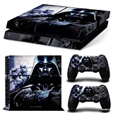 Ps4 Playstation 4 Console Skin Decal Sticker Pegatinas Star Wars Darth Vader + 2 Controller Skins Set