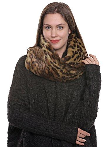 uomo prezzo migliore sconto Adelaqueen Fur Faux Fur Leopardo Scuro Collo Pelliccia ...