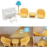 AVANI EXCHANGE Dollhouse Sofa Piano Table Muebles en Miniatura para Sylvanian Family Accessories Kids Gift Toys