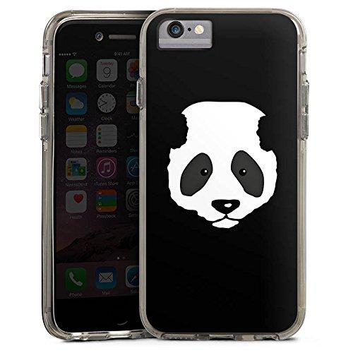 Apple iPhone 6s Plus Bumper Hülle Bumper Case Glitzer Hülle Panda Baer Bear Bumper Case transparent grau