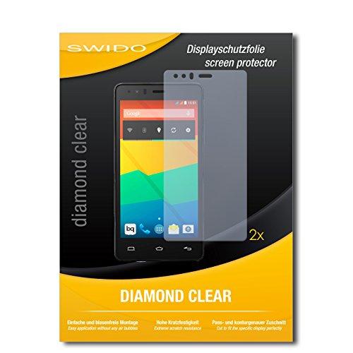 2 x SWIDO® Bildschirmschutzfolie BQ Readers Aquaris E5 HD Schutzfolie Folie