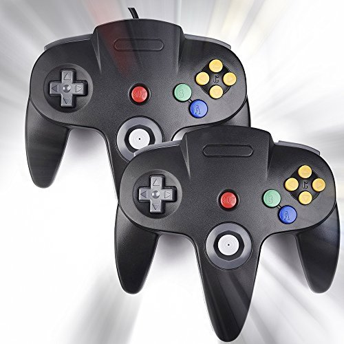 N64 Spiel Controller-2 Pack, USB Nintendo Classic Retro USB Nintendo Gamepad Joystick Joypad Gamestick für Windows PC Mac Linux Android Raspberry Pi 3 Sega Genesis Higan