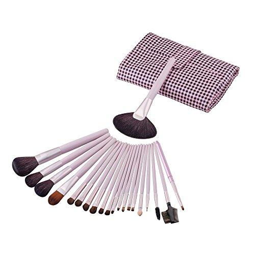 RY@ Ensemble de pinceaux de maquillage de 21 pièces Ensemble de pinceaux de maquillage en bois Poudre de base Oeil de paupières Eyeliner Lip Brush Tool