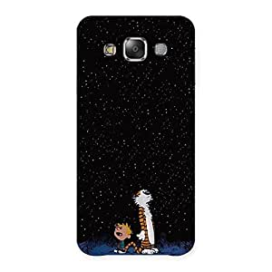 Delighted Counting Stars Multicolor Back Case Cover for Galaxy E7
