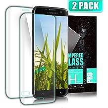 Kiomi Protector de Pantalla Samsung Galaxy S7 Edge, (2 Pack)Full Coverage, 9H Dureza, Ultra-trasparente, Alta Definicion, Ajuste Perfecto, Cristal Templado Protector para Galaxy S7 Edge